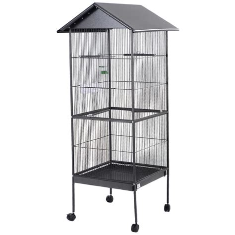 black parrot cockatiel parakeet finch crate feeder perch
