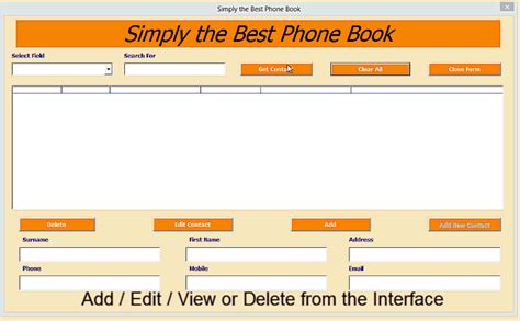 phonebook template excel phone book contact manager excel 2010