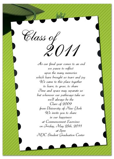 Free Invitation Templates For Word Free Graduation Invitation Announcement Green White Graduation Invitation Templates Microsoft Word