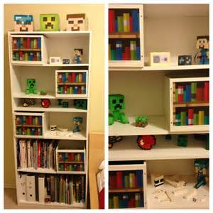 pin bookshelf minecraft on
