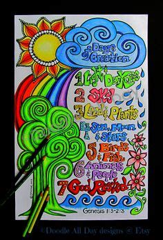 sunflower doodle god creation snack day 1 and choc pudding day 2 blue