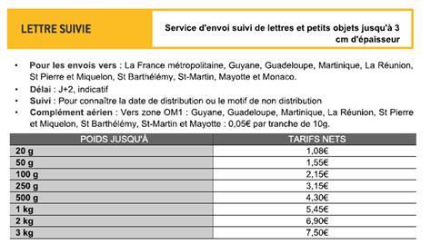 tarifs postaux 2017 l affranchissement tarif lettre contrat de travail 2018