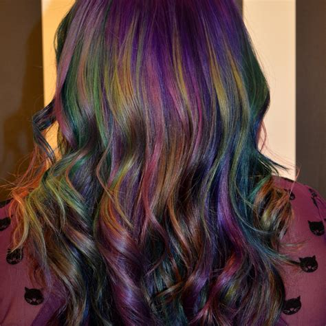 new hair styles with oil and water how to create oil slick hair tricoci university of