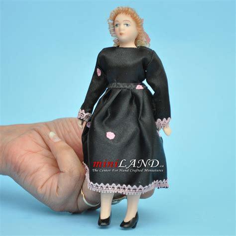 porcelain doll number 5 back in black dress porcelain doll 5 5 quot h