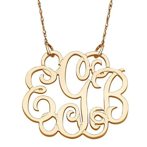 how to make monogram jewelry 14k gold 3 initial fancy monogram 19 quot necklace 7122073 hsn