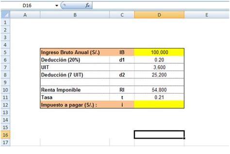 ejemplo de udf para el clculo de pago de impuesto a la renta de ejemplo de udf para el c 225 lculo de pago de impuesto a la