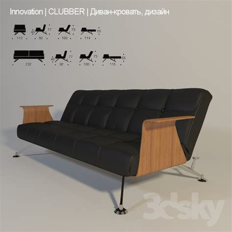 clubber sofa clubber sofa bed with armrests moor thesofa