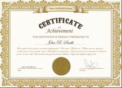 certificate format eps best certificates design vector set free vector in