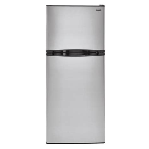 Freezer Haier haier 11 5 cu ft top freezer refrigerator in stainless