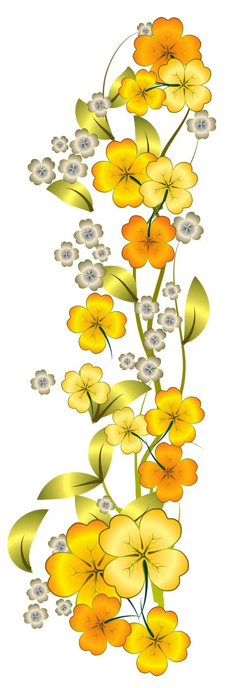 yellow flower decor png clipart clipart png pinterest flower flowers and decoupage