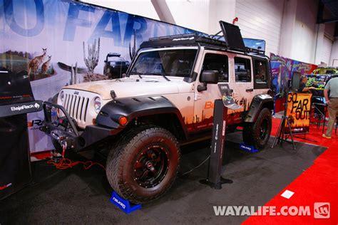 baja jeep wrangler 2012 sema baja rack 4 door jeep jk wrangler