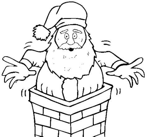 coloring pages santa chimney santa claus on the chimney coloring page coloringcrew com
