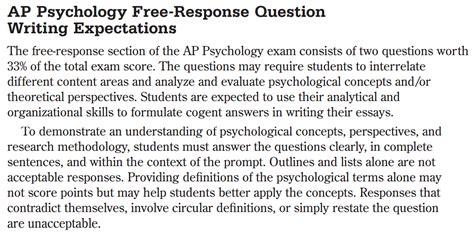 Ap Psychology ap psychology with mr duez frq