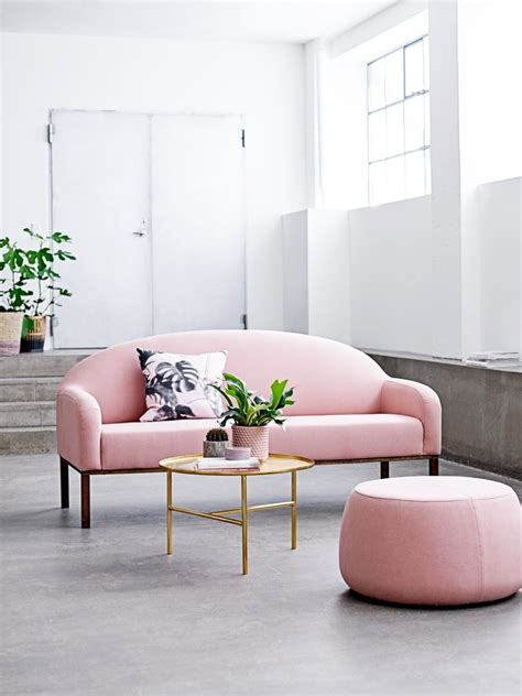 blush pink sofas add  touch  color   living room
