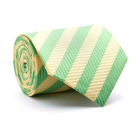 Handmade Ties - handmade tie lime lemon stripe blanc touch of modern