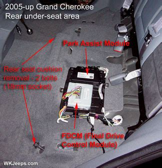 transmission control 2007 jeep wrangler parking system where is the final drive control module