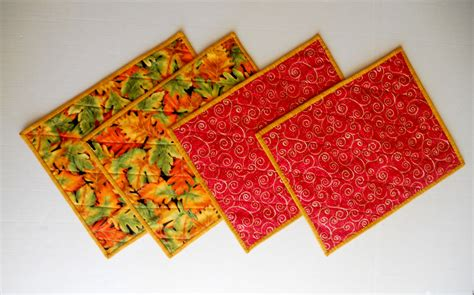 Quilted Placemats by Quilted Placemats Fabric Placemats Fall Placemats