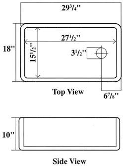Farm Sink Dimensions by Barclay Clay Farmer Kitchen Utility Sinks