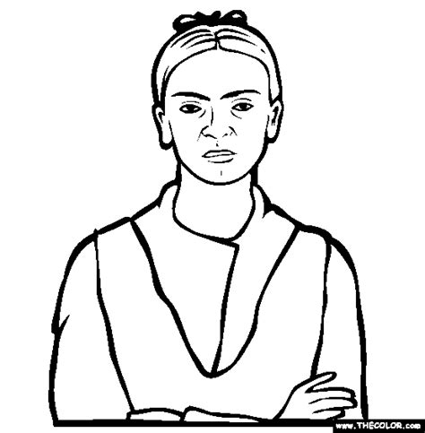 Free Online Coloring Pages Thecolor Frida Kahlo Coloring Pages