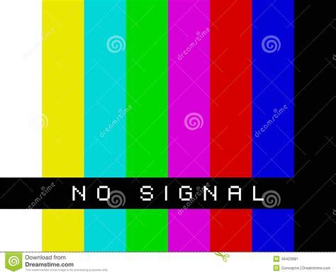 Bedroom Tv No Signal Fernsehen Kein Signal Stock Abbildung Bild Farben