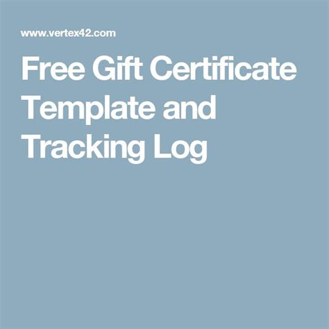 gift certificate log template 25 unique free gift certificate template ideas on