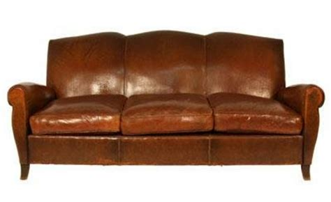 Vintage Leather Sofa H33403375 For Sale Antiques Com Vintage Leather Sofas For Sale