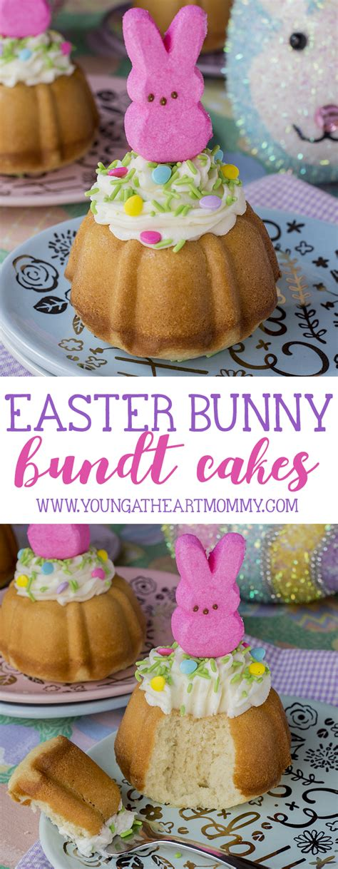 easter bunny bundt cakes young  heart mommy