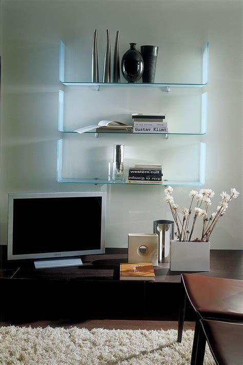 mensole di cristallo osaka mensola di design bontempi casa in vetro
