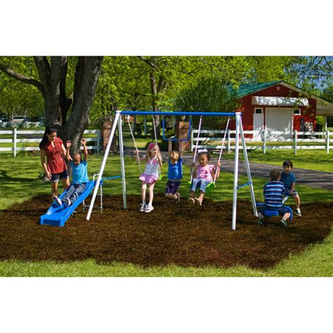 metal swing sets at walmart get the flexible flyer fun time metal swing set for less