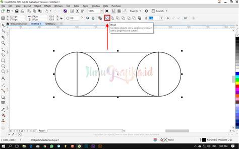 video tutorial coreldraw dasar tutorial coreldraw dasar cara menggabungkan beberapa