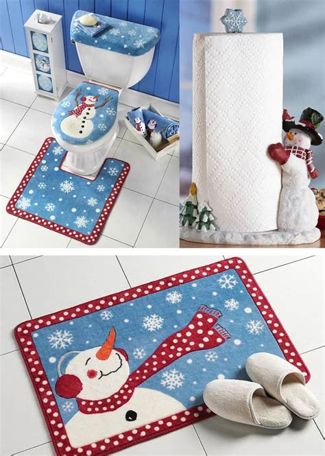 holiday bathroom sets especially for kids amazing christmas bathroom decoration