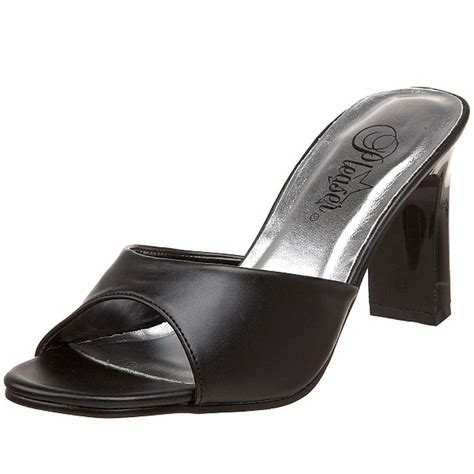 2 sandal heels fabulicious sandals square heel mule slide shoes