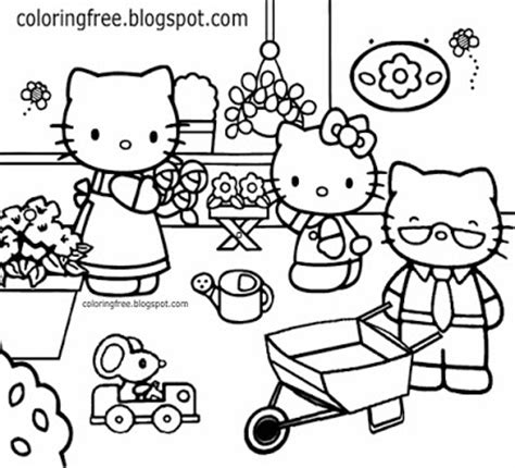 cat family coloring page free coloring pages printable pictures to color kids