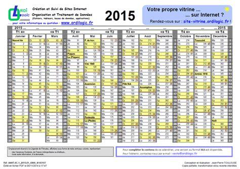 Calendrier Numero Semaine Ordilogic Fr Calendrier Numros Jours Et Semaines 2015