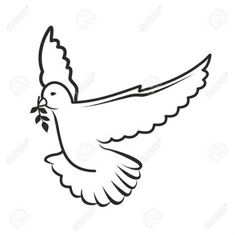 white dove template dove outline clipartion