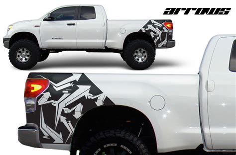 Toyota Tundra Decals Stickers Toyota Tundra Fender Graphics Vinyl Decal Matte Black