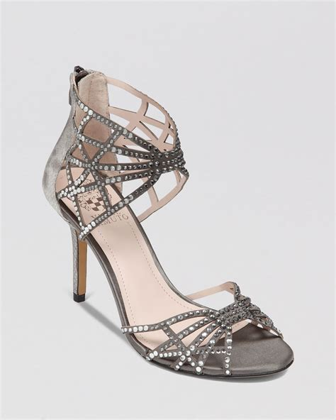 vince camuto high heels vince camuto evening sandals wari high heel in gray grey