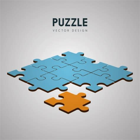 layout puzzle vector puzzle joints background colored 3d design free vector in