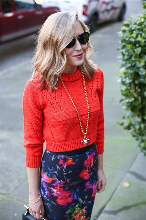 cropped sweater with pencil skirt cardigan with buttons