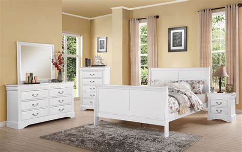 louis phillipe bedroom set louis philippe iii 4pc full white bedroom set 24510f