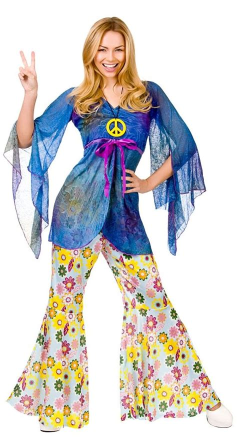 fiori hippy hippie 60s 70s hippy flower fancy dress costumes