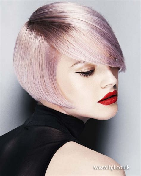 smooth lilac side part bob hairstyle gallery