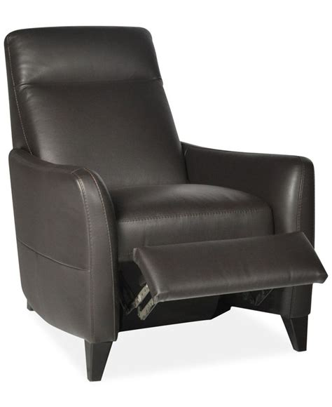 macys leather recliner declan leather pushback recliner chairs furniture