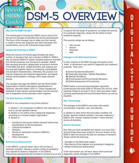 Barnes Noble Classics Dsm 5 Overview Speedy Study Guides By Speedy Publishing