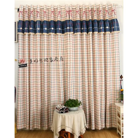 red country curtains rustic plaid pattern navy and red country curtains