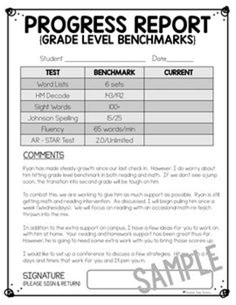 grade progress report template 1000 images about teaching assessments conferences