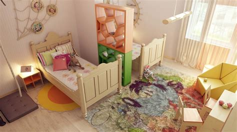 shared bedroom shared childrens room divider idea interior design ideas