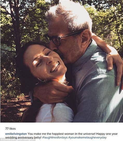 Jeff Goldblum and wife Emilie Livingston celebrate one