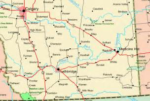 map of southern alberta canada southern alberta map view