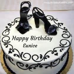 Fashion happy birthday cake for eunice